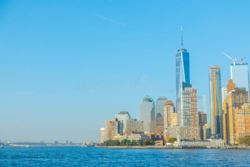 Abstrakte Unschärfe Manhattan-Skyline, New York City USA stockfotografie