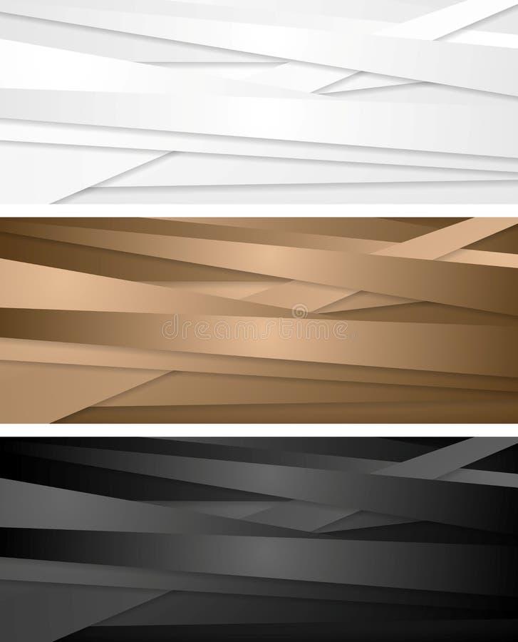Abstrakte Unternehmensfahnen mit Streifen vektor abbildung