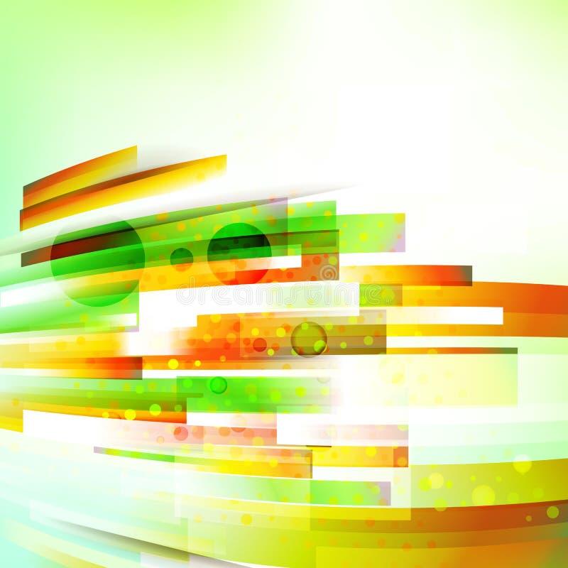 Abstrakte Unterseite orientierte Sommerfarbhintergrund lizenzfreie abbildung