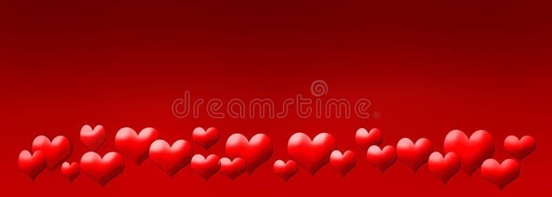 Abstrakte Valentinsgrußkarte stock abbildung