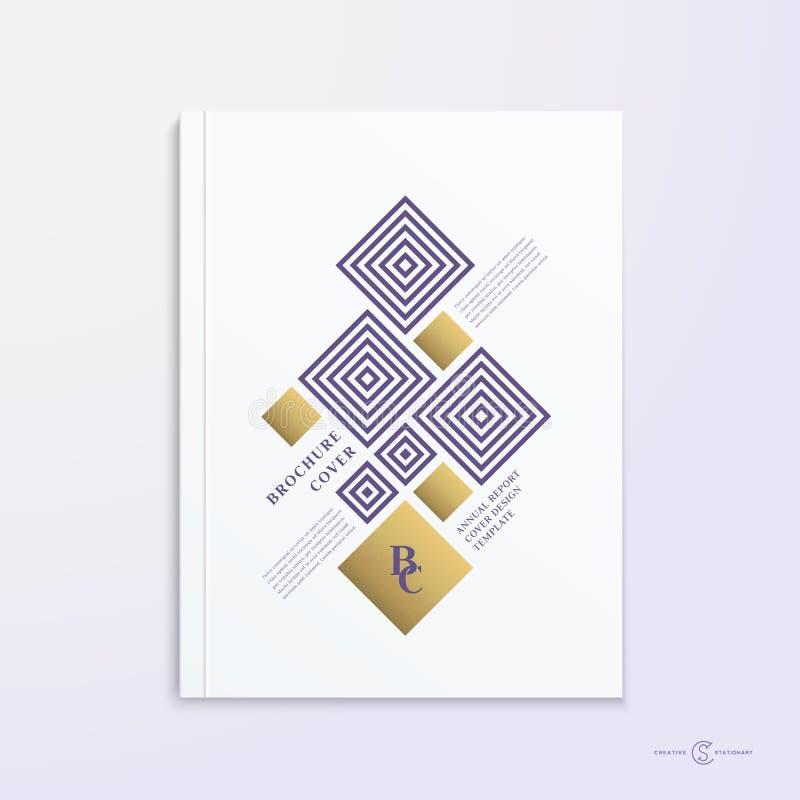 Abstrakte Vektor-Broschüren-, Broschüren-, Buch-oder Berichts-Abdeckungs-Design-Schablone vektor abbildung