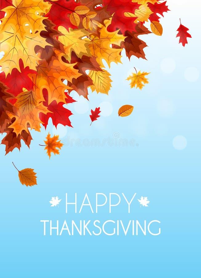 Abstrakte Vektor-Illustration Autumn Happy Thanksgiving Backgroun stock abbildung