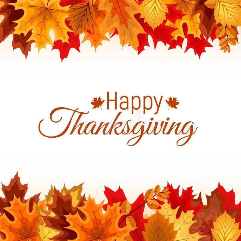 Abstrakte Vektor-Illustration Autumn Happy Thanksgiving Background vektor abbildung