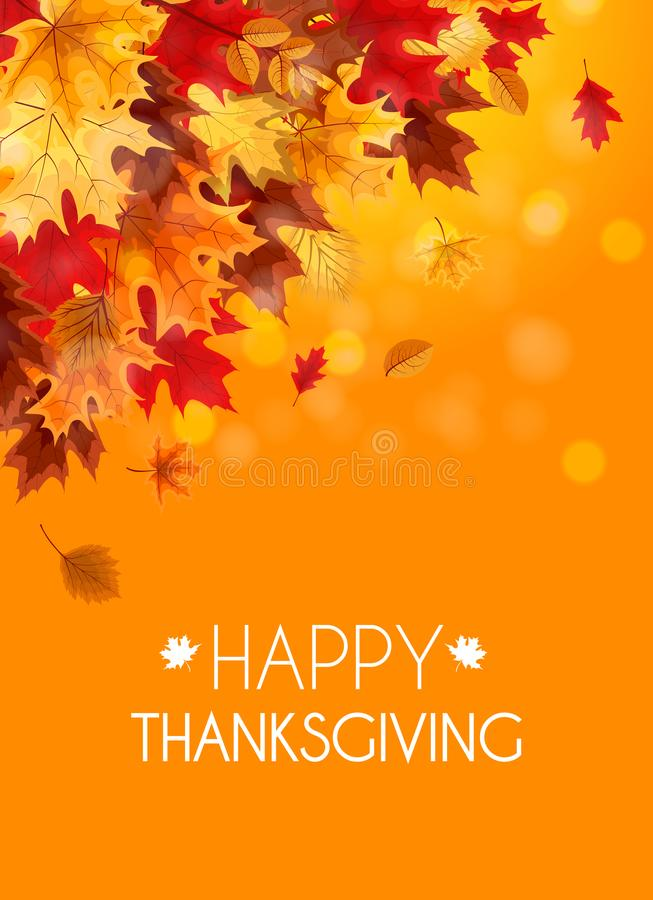 Abstrakte Vektor-Illustration Autumn Happy Thanksgiving Background stock abbildung