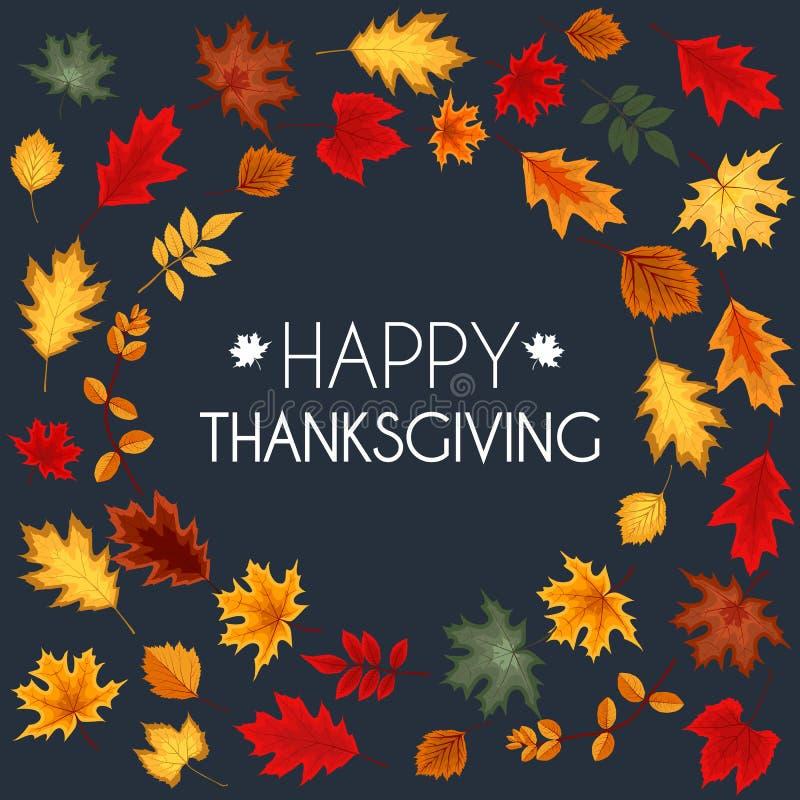 Abstrakte Vektor-Illustration Autumn Happy Thanksgiving Background lizenzfreie abbildung