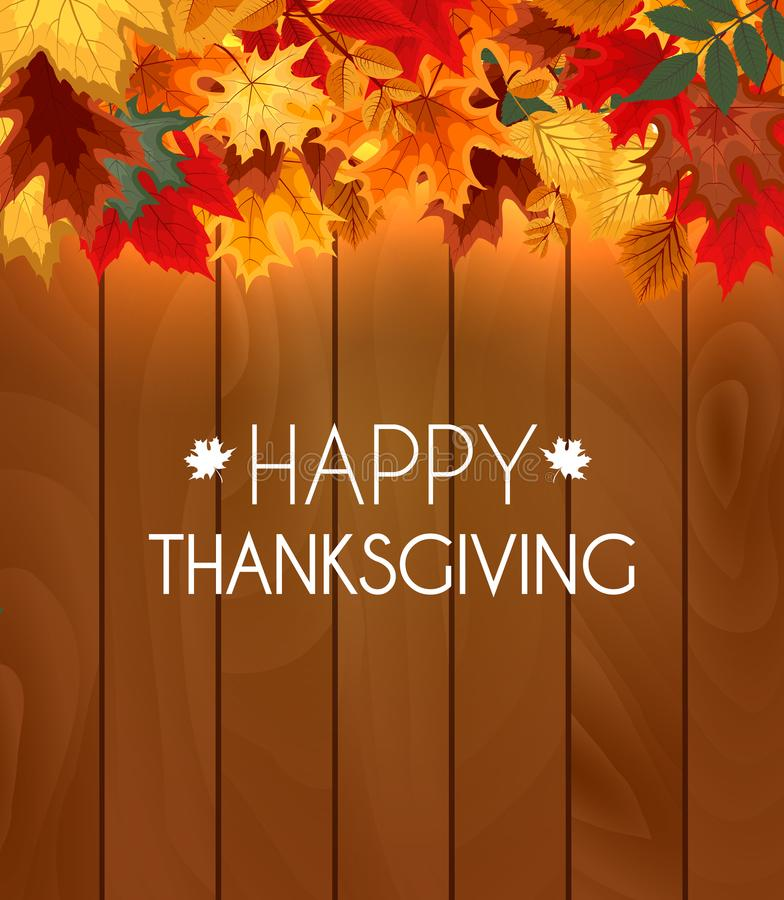 Abstrakte Vektor-Illustration Autumn Happy Thanksgiving Background vektor abbildung