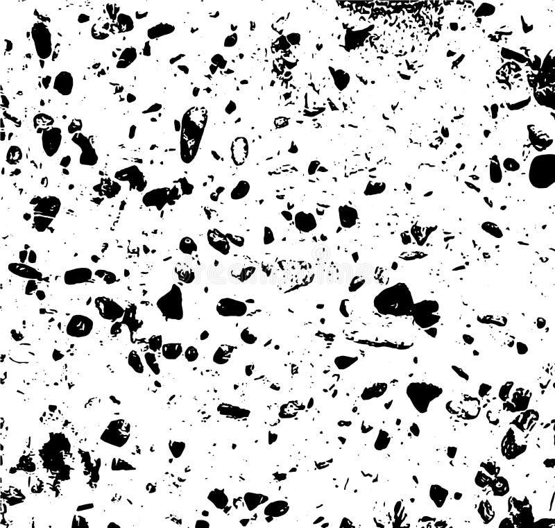 Abstrakte Vektorbeschaffenheit mit Terrazzoeffekt Schmutz detaliled Hintergrund stock abbildung