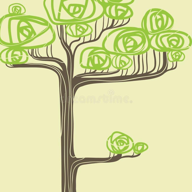 Abstrakte Vektorillustration des stilisierten Grüns vektor abbildung