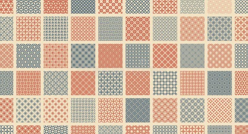 abstrakte Vektorillustration Einfache grafische Auslegung Muster für Textildrucken, Verpackung, Verpackung, usw. stock abbildung