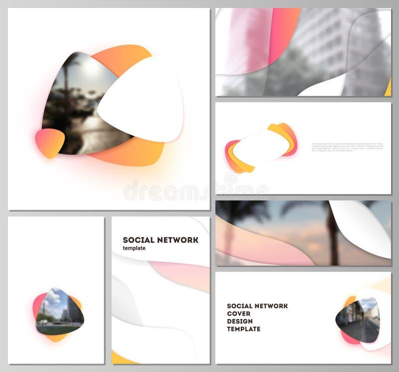Abstrakte Vektorillustration Minimalistic der editable Pläne der modernen Modelle des Sozialen Netzes in den populären Formaten lizenzfreie abbildung