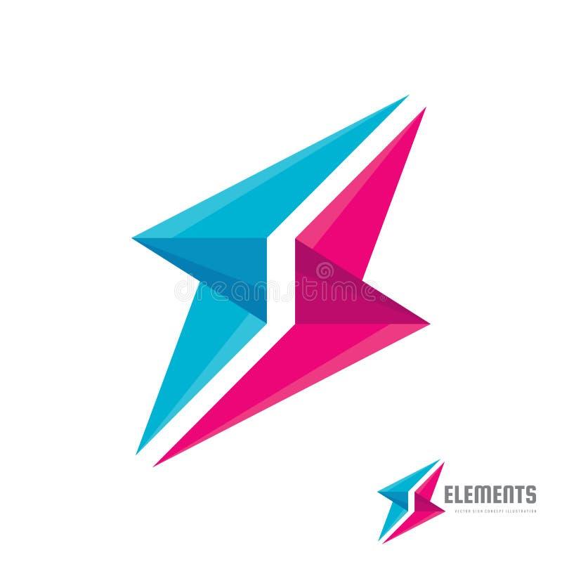 Abstrakte Vektorlogoschablonen-Konzeptillustration Kreatives Zeichen der Zusammenarbeit Alliance-Symbol Kommunikationsikone stock abbildung