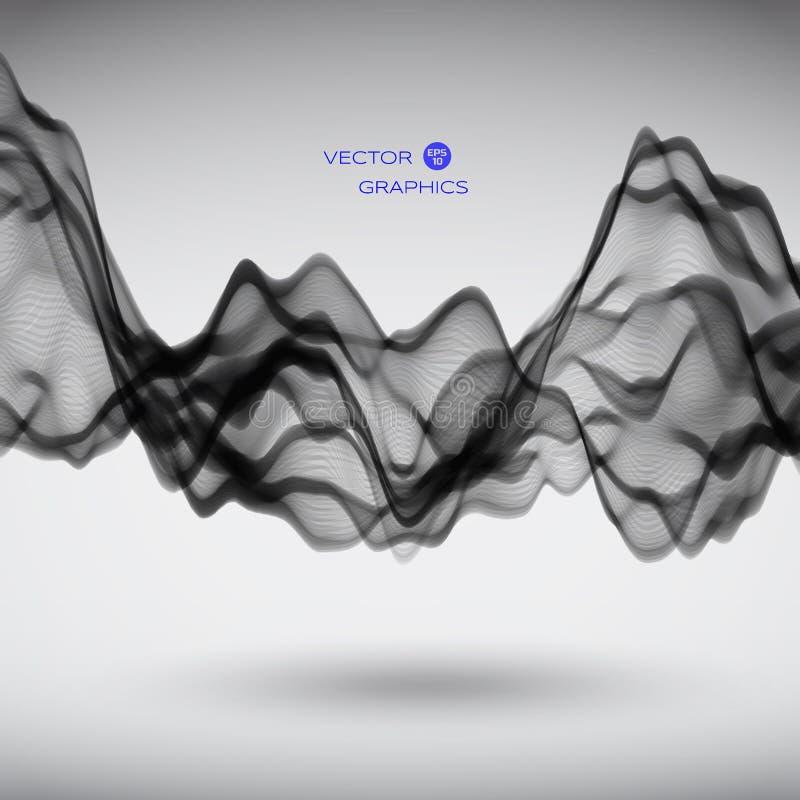 Abstrakte Vektorsignalwelle vektor abbildung