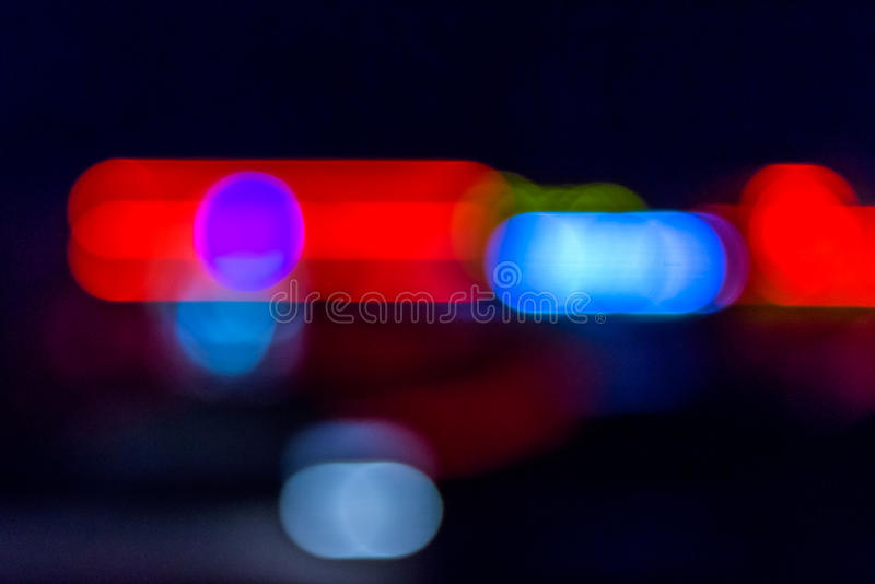 Abstrakte Verfolgung nachts lizenzfreie stockbilder