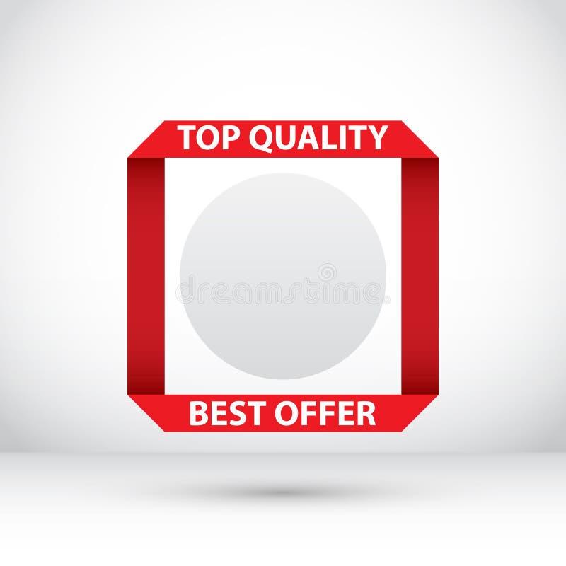Abstrakte Verkaufs-Fahne Rabatt-Design stock abbildung