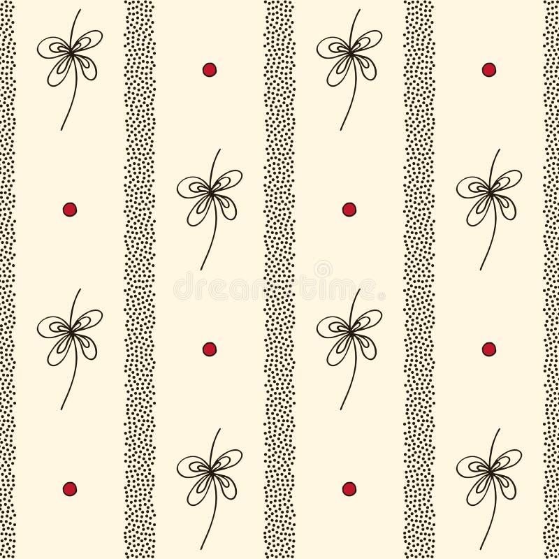 Abstrakte vertikale Streifen und nahtloses Muster des stilisierten Dekorvektors Handgezogene stilvolle minimalistic Verzierung El vektor abbildung