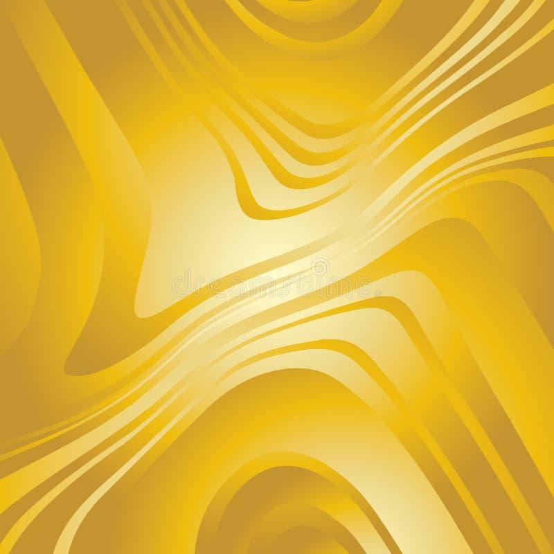 Abstrakte verworfene Goldlinien Hintergrund lizenzfreie abbildung