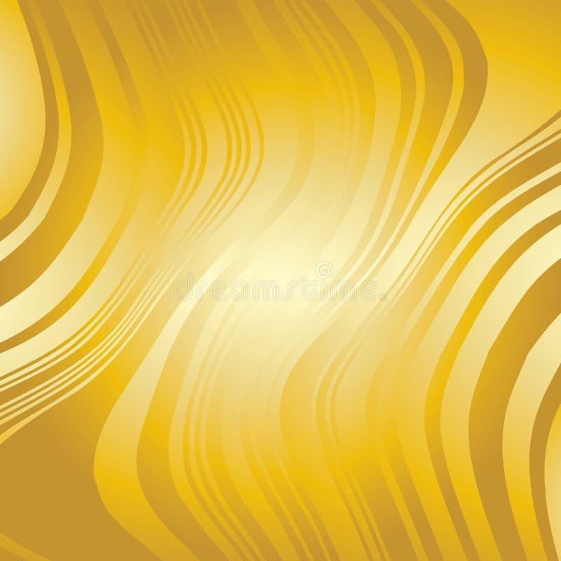 Abstrakte verworfene Goldlinien Hintergrund stock abbildung