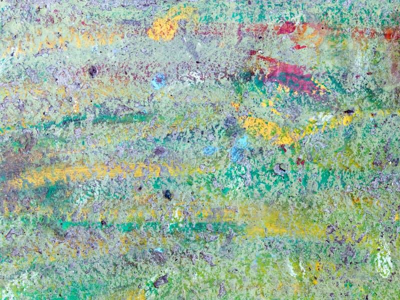 Abstrakte vibrierende Farben gemalte Wandoberfläche stockbild