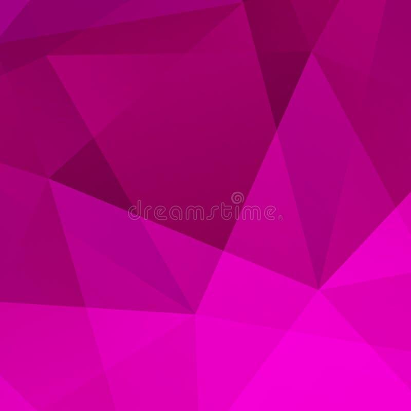 Abstrakte Violet Geometric Background lizenzfreie abbildung