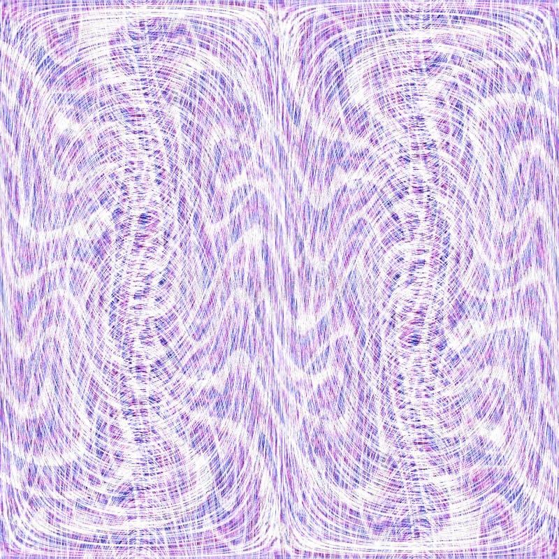 Abstrakte violette und weiße gewellte Linien Kunsthintergrund vektor abbildung