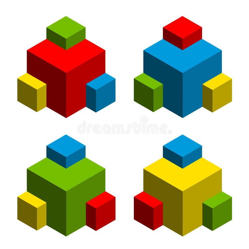 abstrakte Würfel 3d stock abbildung