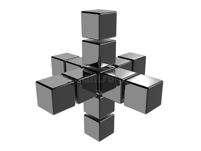 Abstrakte Würfel 3d lizenzfreie abbildung
