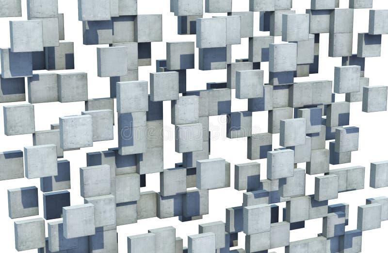 Abstrakte Wand der konkreten Würfel lizenzfreie stockfotos