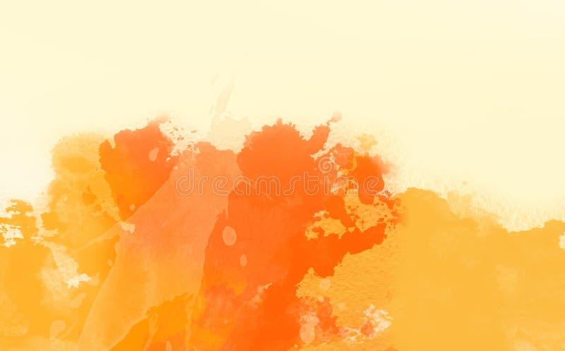 Abstrakte Wasser-Farbe, orange Farbe lizenzfreie stockfotografie