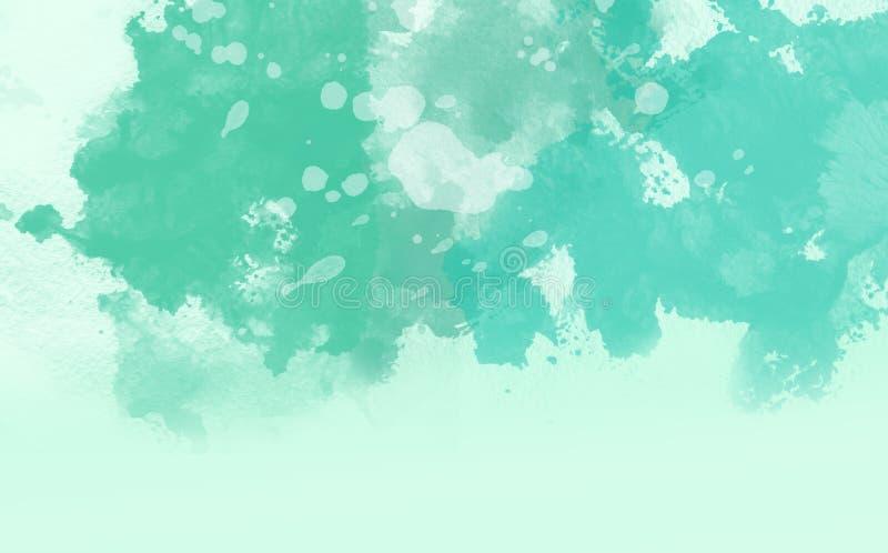 Abstrakte Wasserfarbe, grüner weicher Hintergrund lizenzfreie stockfotos
