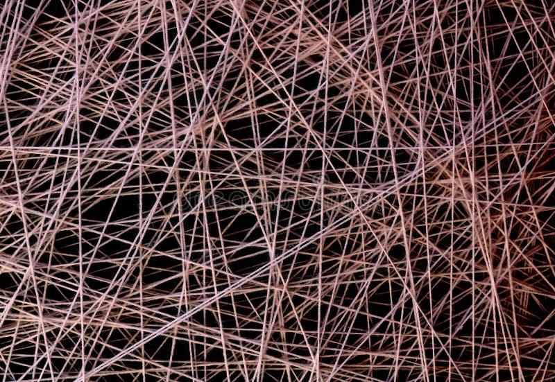 Abstrakte Webart von weißen Threads lizenzfreies stockfoto