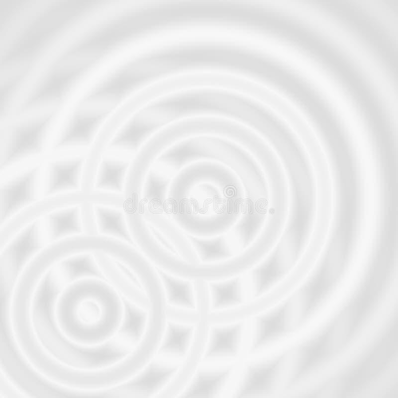 Abstrakte weiße Ringe klingen, weicher Hintergrund der Kreisdrehbeschleunigung oszillierend stockfotos