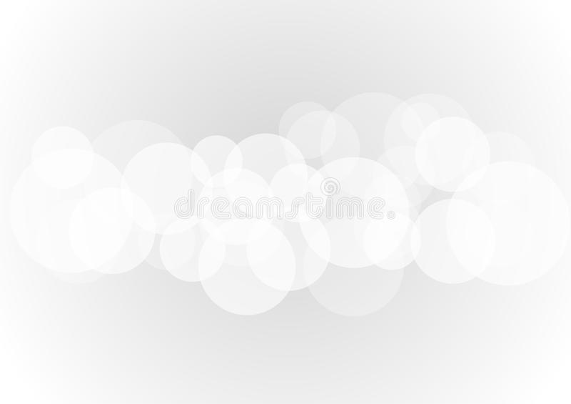 Abstrakte weiße transparente Kreisformen überschneiden auf grauem Hintergrund lizenzfreie abbildung