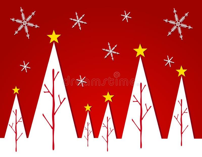 Abstrakte weiße Weihnachtsbaum-Karte 2 stock abbildung