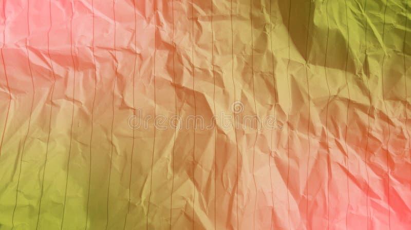 Abstrakte weiche rosa Farbe des zerknitterten Papiers, olivgrüner Effekthintergrund der Farbmischung multi Farb lizenzfreie stockfotografie