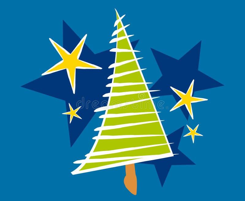 Abstrakte Weihnachtsbaum-Karte 2 lizenzfreie abbildung