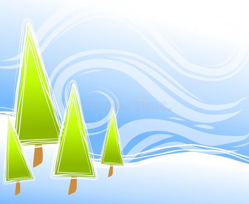 Abstrakte Weihnachtsbaum-Szene vektor abbildung
