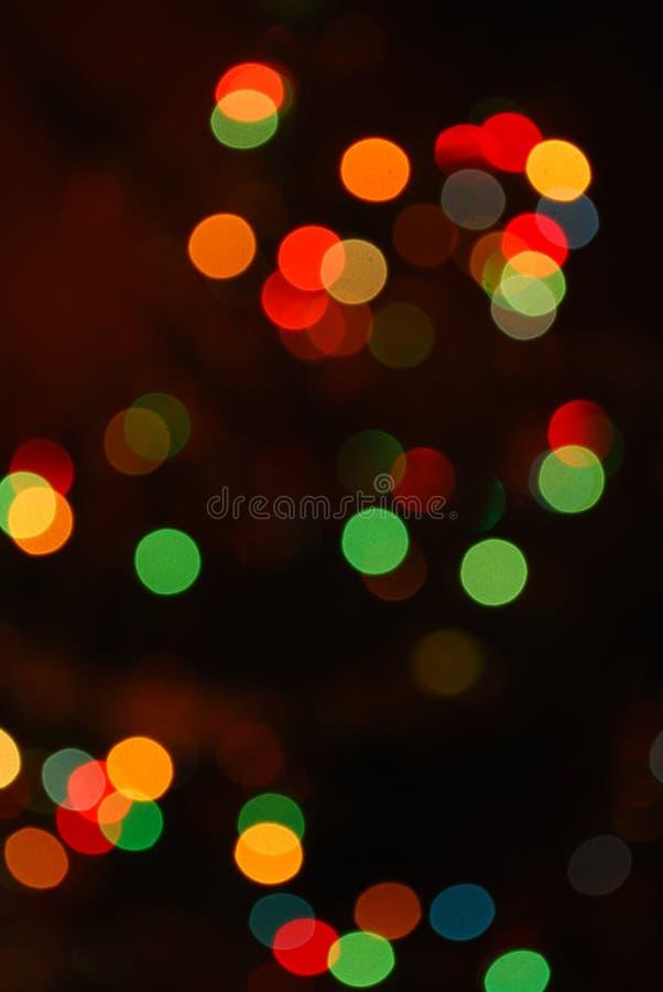 Abstrakte Weihnachtsbaumleuchten stockfotografie