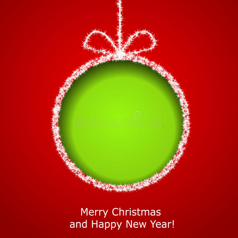 Abstrakte Weihnachtsgrußkarte stock abbildung
