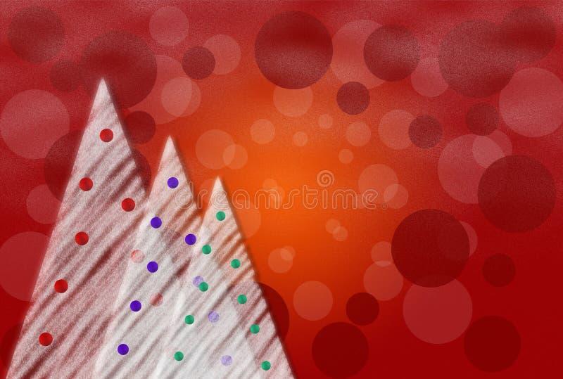 Abstrakte Weihnachtskarte stock abbildung