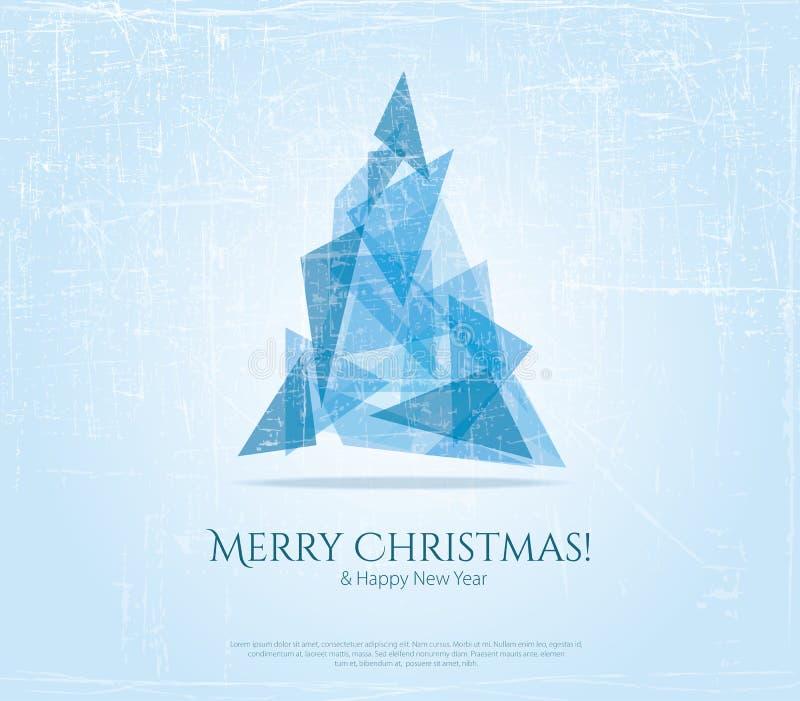 Abstrakte weihnachtskarte mit modernen elementen vektor for Moderne weihnachtskarten
