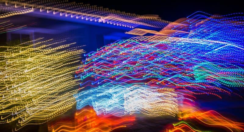 Abstrakte Weihnachtslichterkette stockfoto