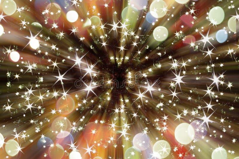 Abstrakte Weihnachtslichtexplosion vektor abbildung