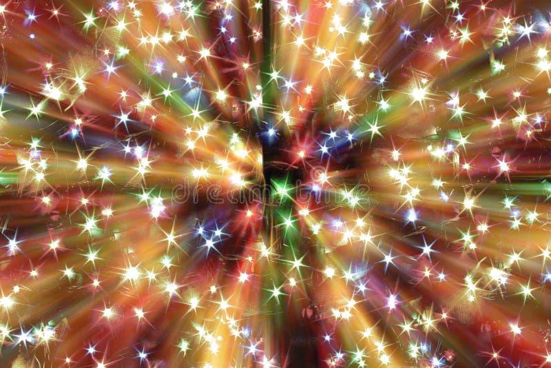 Abstrakte Weihnachtslichtexplosion lizenzfreie abbildung