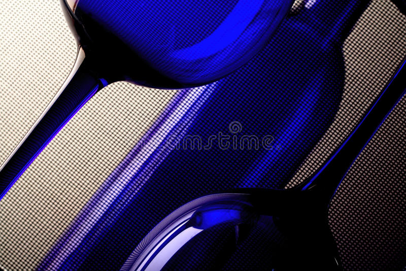 Abstrakte Wein-Glasware-Auslegung stockbilder