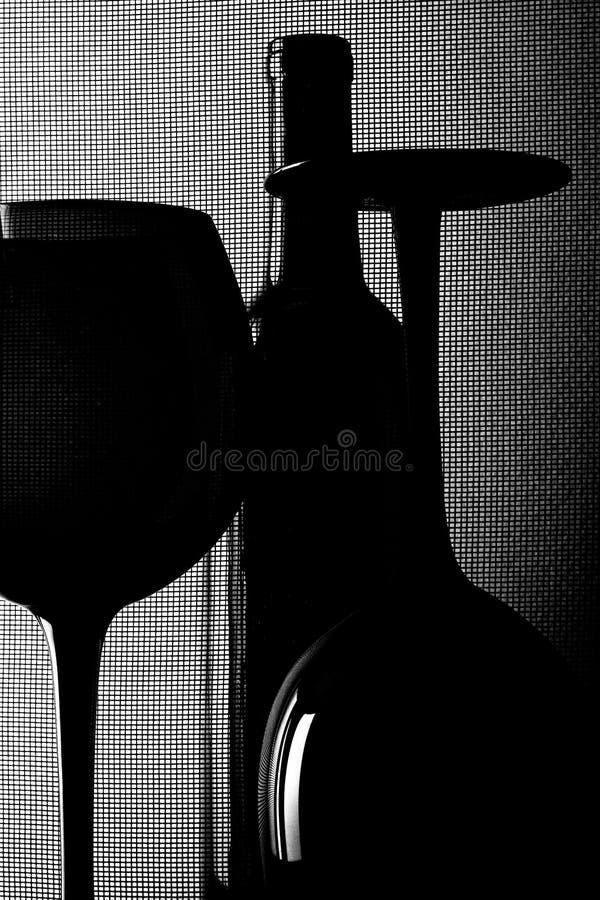 Abstrakte Wein-Glasware-Auslegung stockfotografie