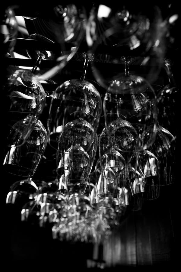 Abstrakte Weingläser lizenzfreie stockfotografie