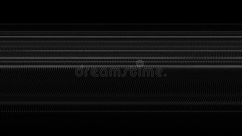 Abstrakte Welle vieler Punkte Futuristischer Hintergrund Auch im corel abgehobenen Betrag vektor abbildung