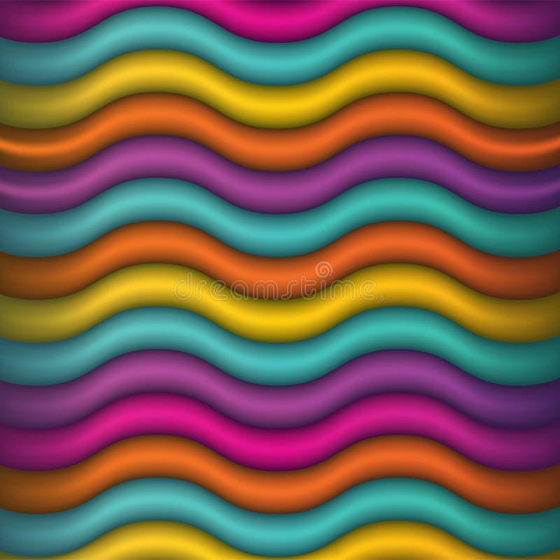 Abstrakte wellenartig bewegende Farbhintergrund-Illustration lizenzfreie stockfotografie