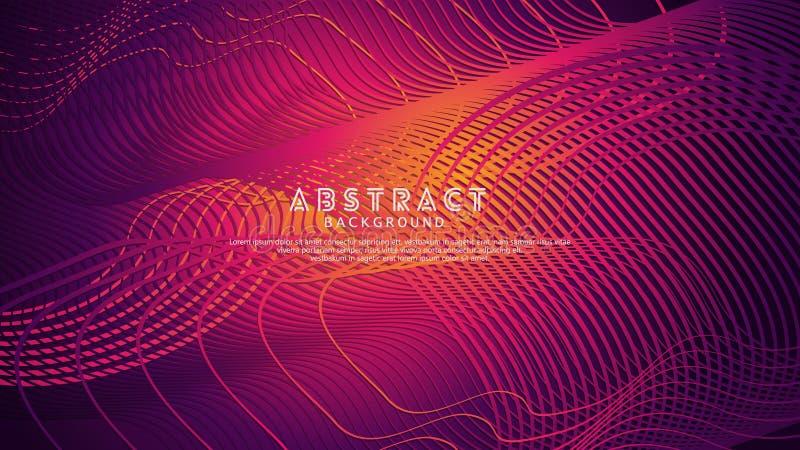 Abstrakte Wellenlinien Hintergrund für Elemententwurf und andere Benutzer stockbilder