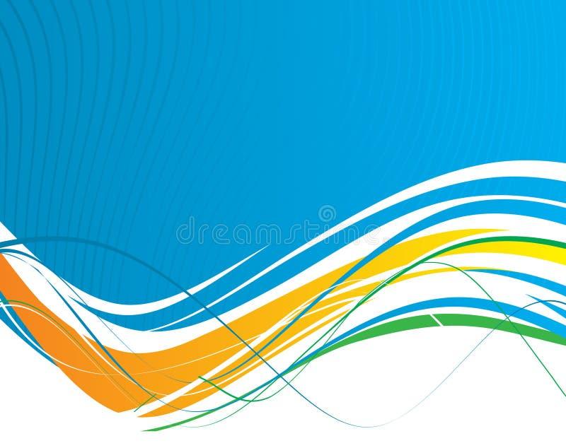 Abstrakte Wellenzeilen lizenzfreie abbildung